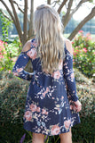 Flirty in floral dress - navy