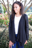Gifted girl cardigan - black