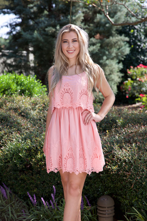FLIRTY FUN DRESS - PINK