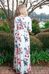 Mint spring floral maxi dress - Red Gate Boutique