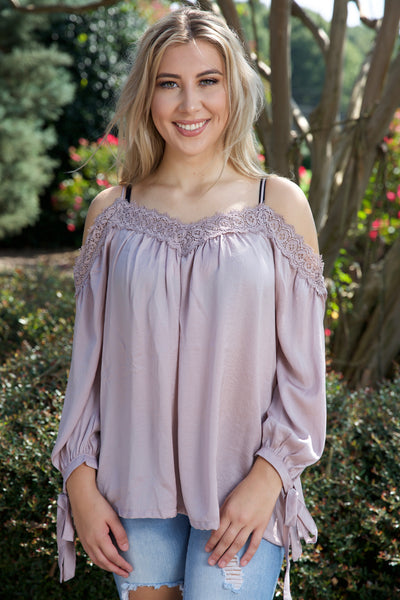 SPARKLE & SHINE TOP - ROSE