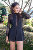 SUPER SLEEK ROMPER - BLACK