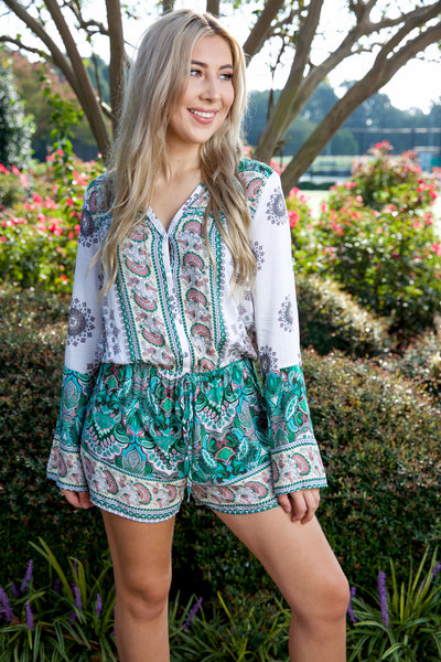 Once upon a time romper - green