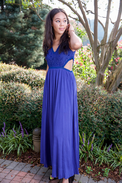 INSPIRING INDIGO DRESS - NAVY BLUE