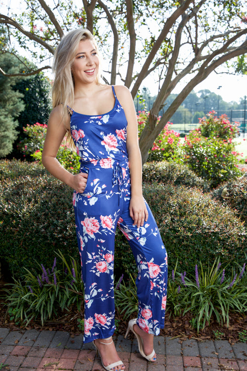 Forever fabulous floral jumpsuit - navy