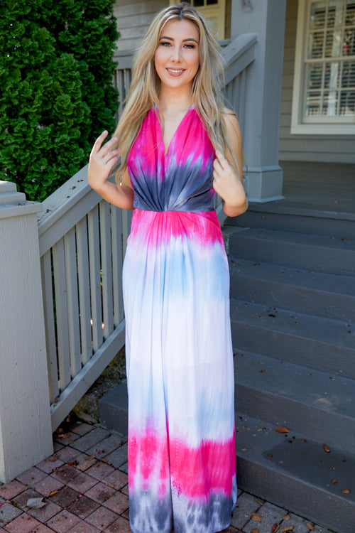 Sunset dress - fuchsia - Red Gate Boutique