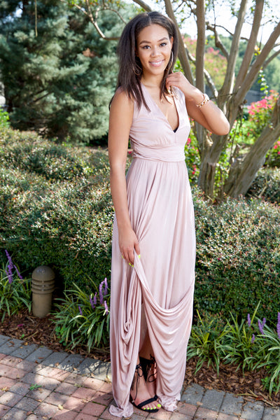 Make me blush dress - dusty rose - Red Gate Boutique