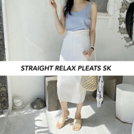 *FINAL SALE*Straight Relax Pleats SK