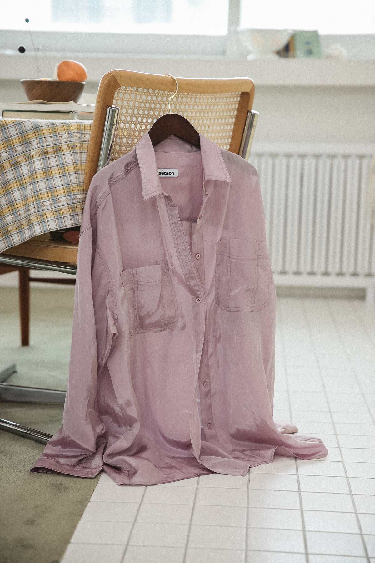 *FINAL SALE* CREPE OVERSIZED BLOUSE (DUSTY LAVENDER)
