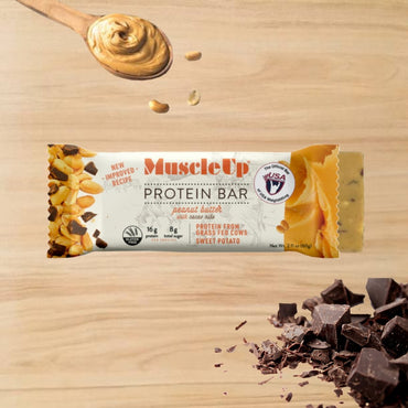 Peanut Butter with Cacao Nibs - Muscle Up Bars
