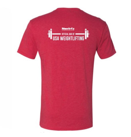 Lift. Eat. Sleep. Repeat., Men's Short Sleeve Crew Neck T-Shirt - Muscle Up Bars