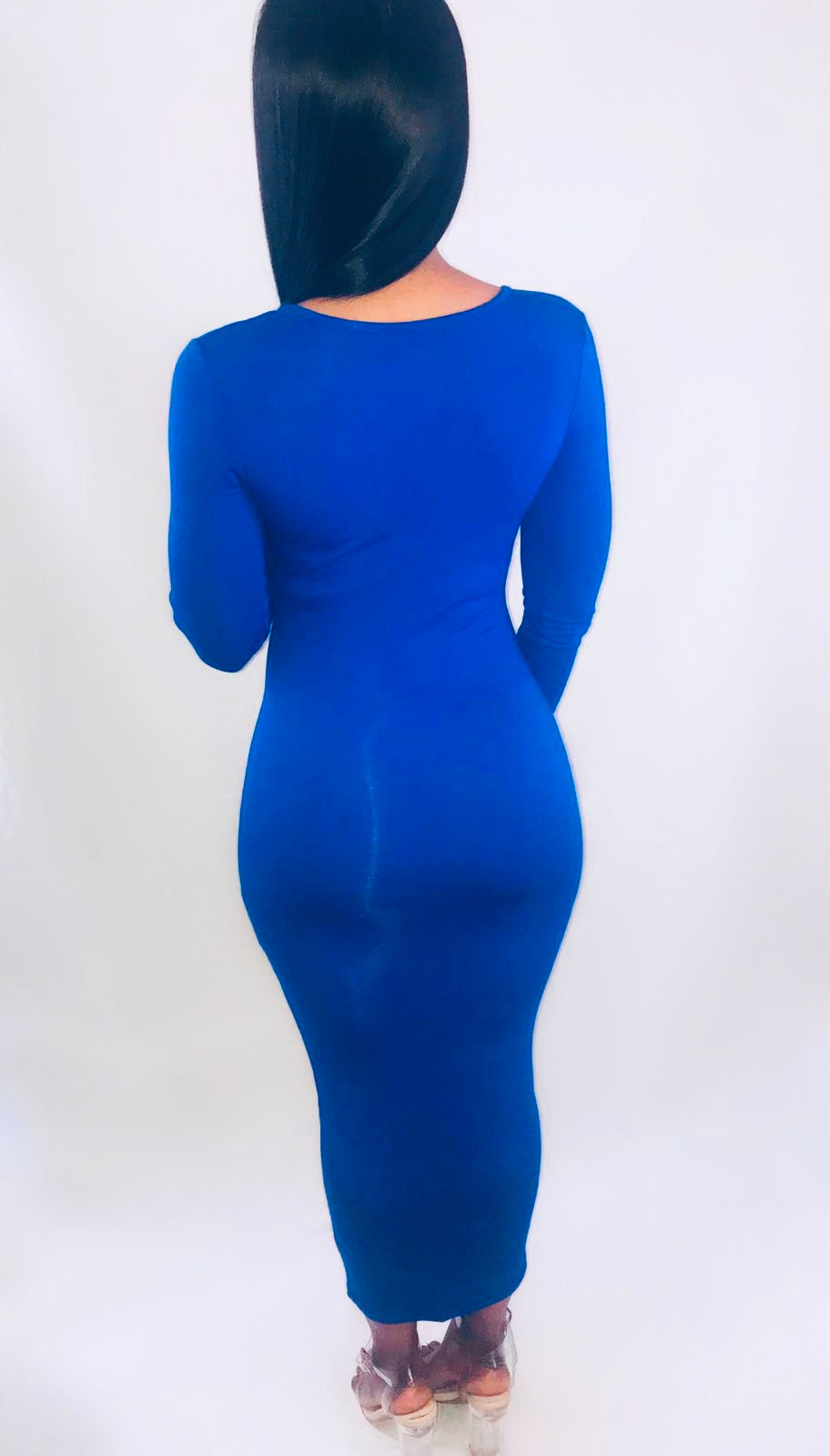 Bodied Midi Dress- Blue