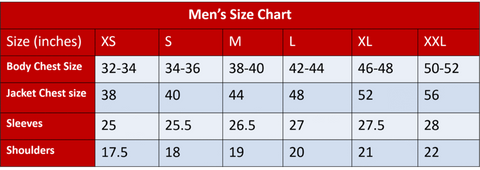 Men Measurement Guide