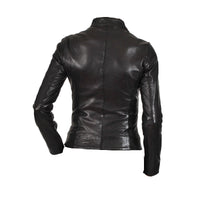 Women's slim fit leather jacket - Lusso Leather - 2