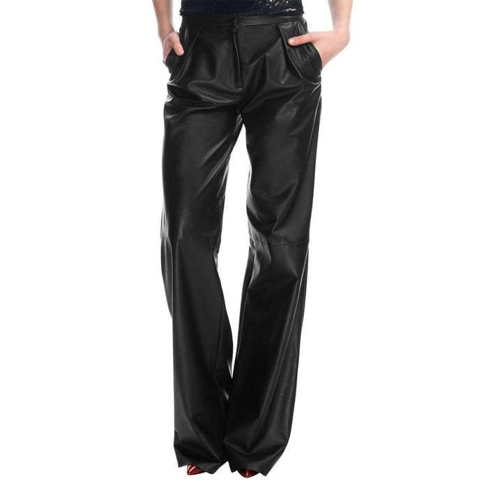 Bell bottom leather pants (style #6) - Lusso Leather - 1