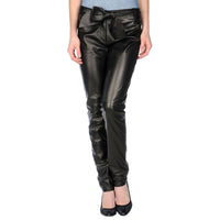 Leather pants with leather belt (style #8) - Lusso Leather - 1