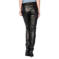 Leather pants with leather belt (style #8) - Lusso Leather - 2