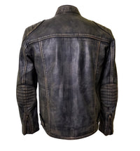 Hendrix's Distressed Leather Jacket with collar belt