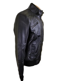 Greig's bomber style jacket with ribbed collar and cuffs
