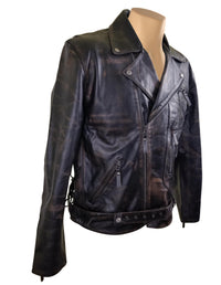 Arnold Schwarzenegger Terminator 2 Distressed Biker Leather Jacket