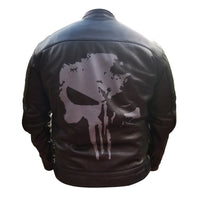 Punisher's motorcycle leather jacket