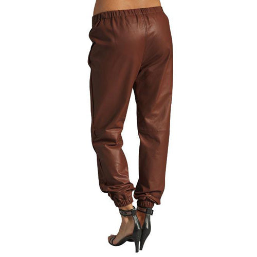 Tan brown Alladin's leather pants (style #9) - Lusso Leather - 2