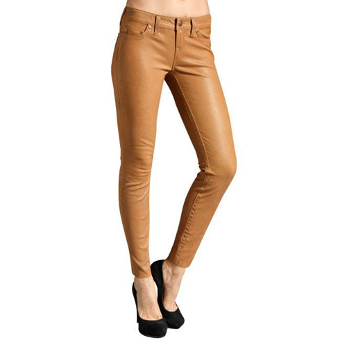 Light Tan leather pants (style #10) - Lusso Leather - 1