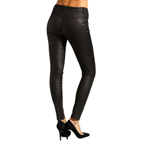 Slim fit leather pants with patterns (style #22)