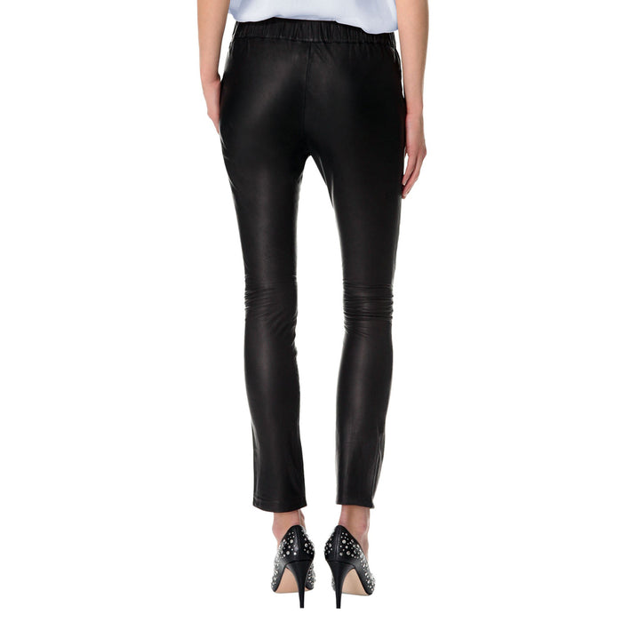 Leather pants with elastic waist and laces (style #12) - Lusso Leather - 2