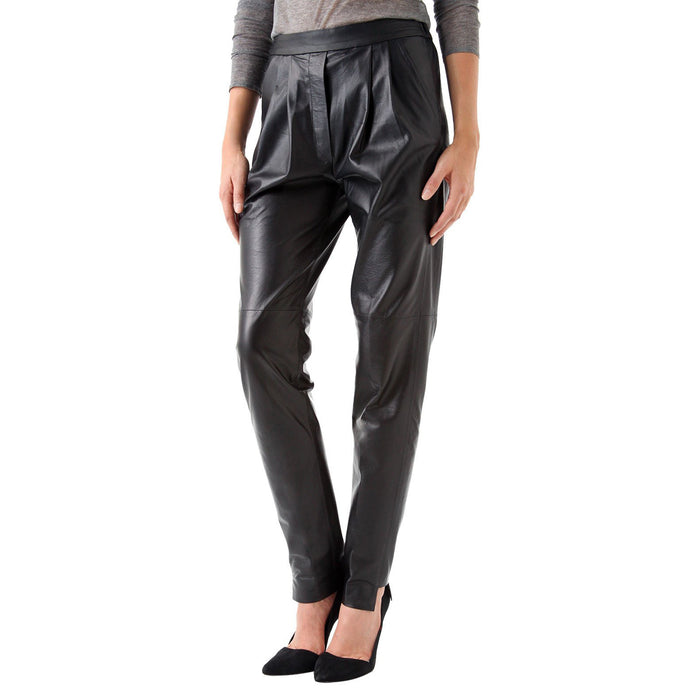 Relaxed fit hammer leather pants (style #13) - Lusso Leather - 1