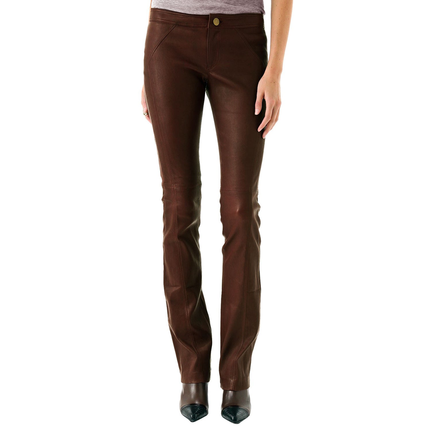 Business elegant leather pants (style #14) - Lusso Leather - 1
