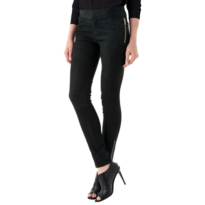 Black Suede leather pants - Lusso Leather - 1