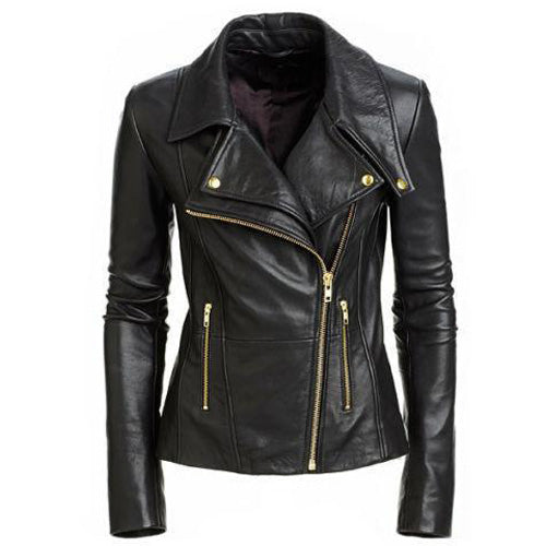 Hailey Biker Jacket with Double lapels