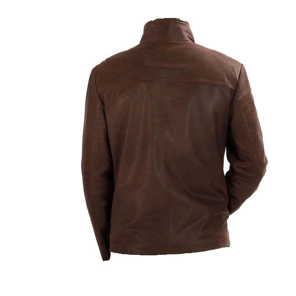 Brown Suede Leather jacket - Lusso Leather - 2