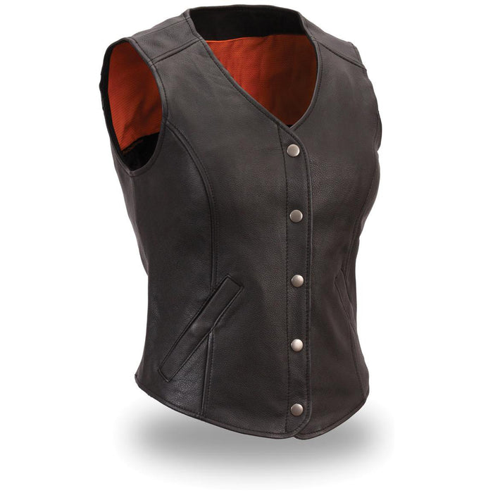 Business elegant leather vest - Lusso Leather