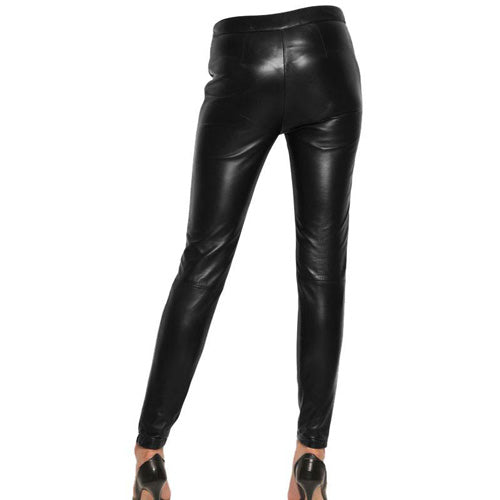 Plain Leather pants (style #3) - Lusso Leather - 2