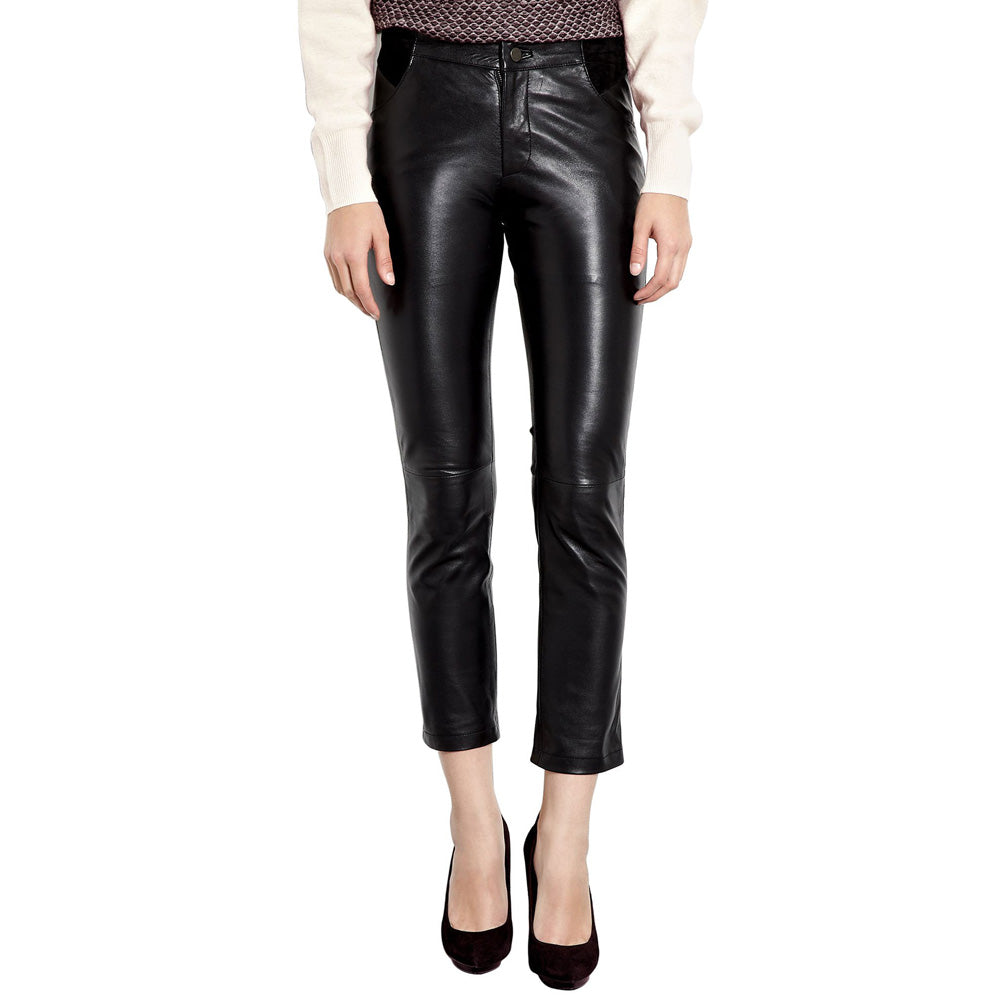 Yoga leather pants (style #21) - Lusso Leather - 1