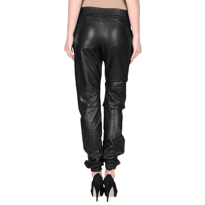 Leather pants with elastic waist (style #4) - Lusso Leather - 2