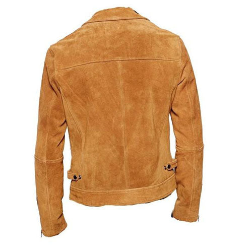 Collared Suede leather jacket - Lusso Leather - 2