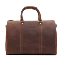 Vintage Leather Business Travel Duffel Bag
