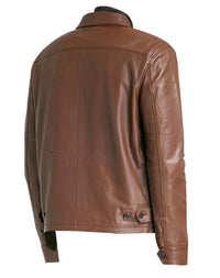 Pierre Brown Leather Jacket