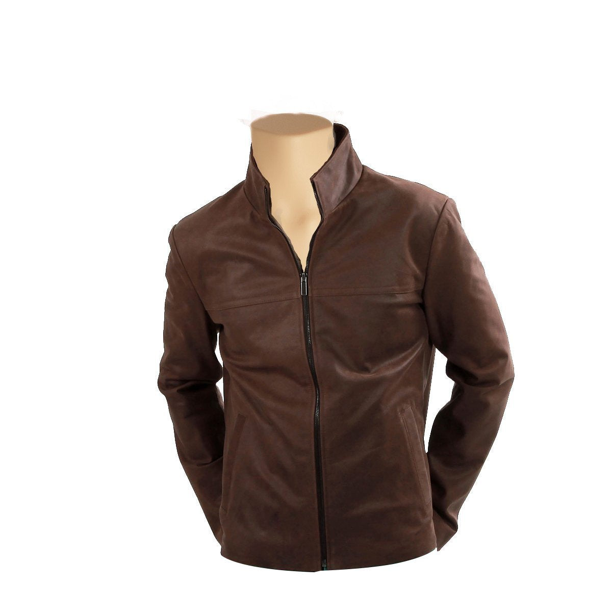 Brown Suede Leather jacket - Lusso Leather - 1