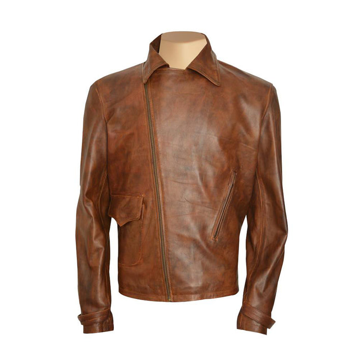 Captain America's Brown Biker Leather Jacket