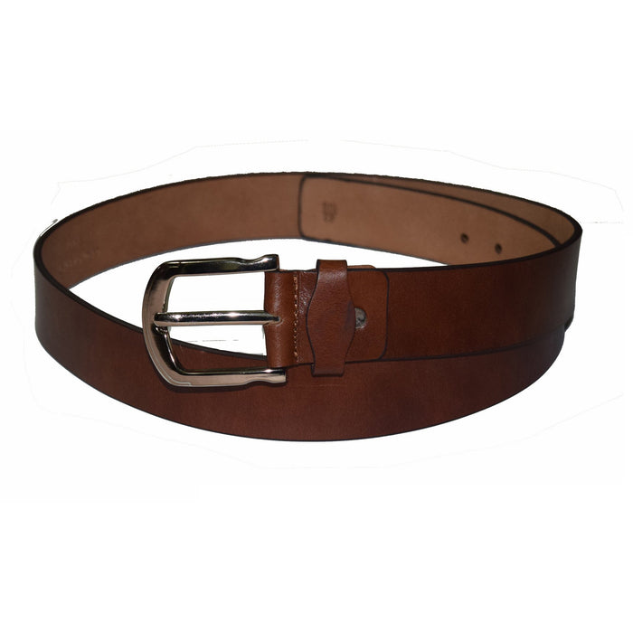 Casual brown wide leather belt - Lusso Leather - 2