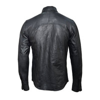 Classic Black Leather Shirt