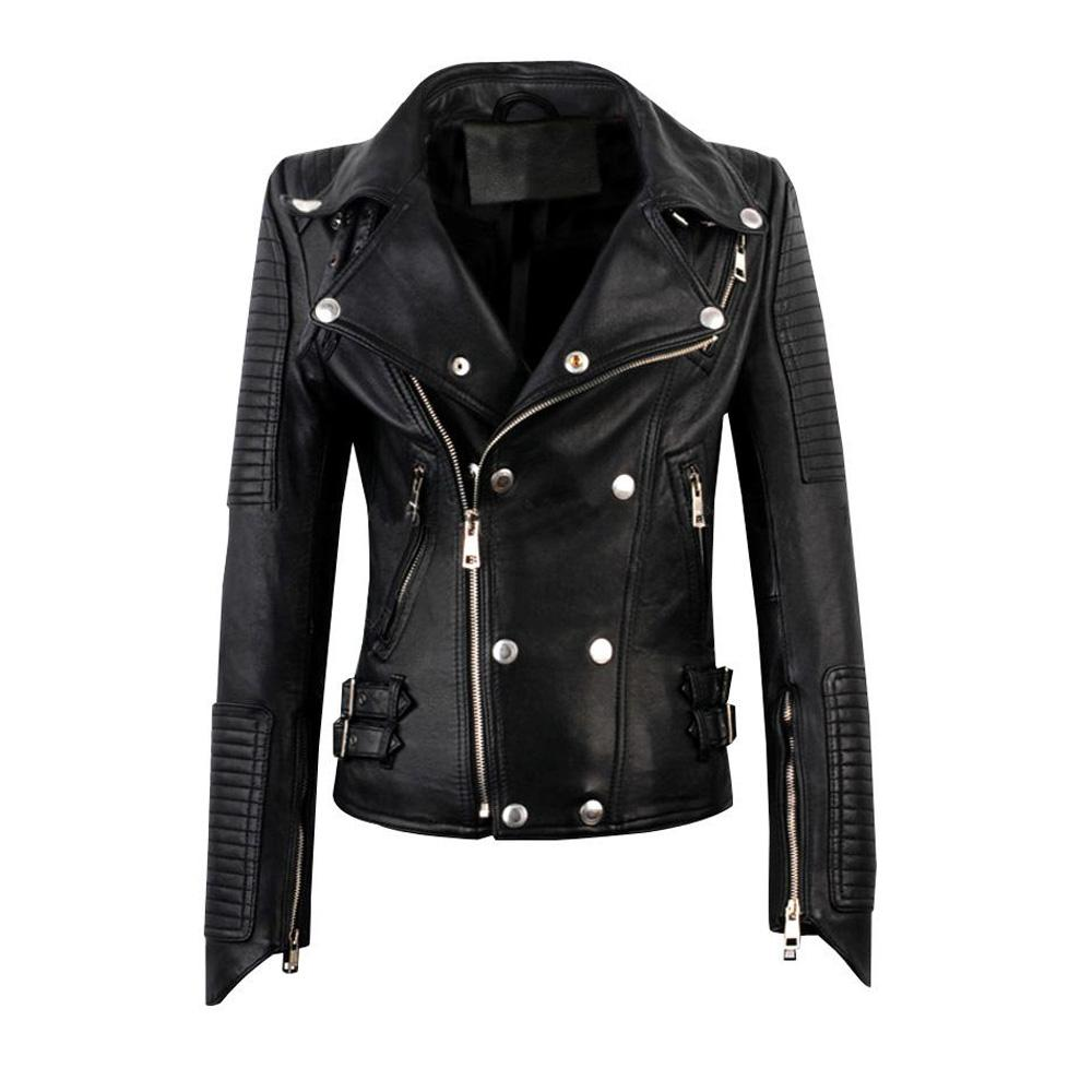 Meredith Biker Jacket with snap button closure - PRE MADE CLEARANCE