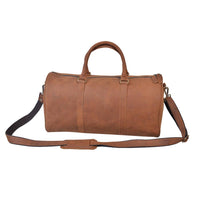 Kane's Gym/ Day trip Small Leather Duffel Bag