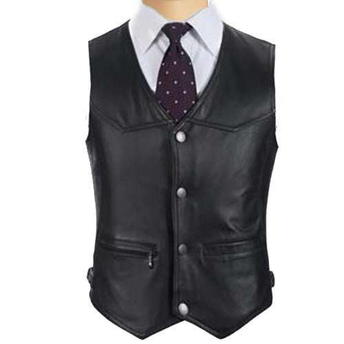 Leather Vest business casual - Lusso Leather