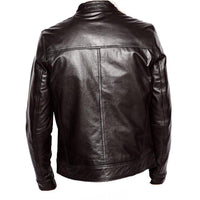 Plain black moto style jacket- CLEARANCE PRE MADE