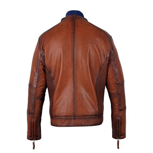 Men's Ruda Burnished Leather Jacket